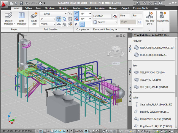 AutoCAD-Plant-3D-2010---Workspace-Screenshot