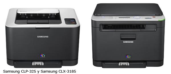 Samsung CLX-3185 y Samsung CLP-320 y 325, impresoras y equipos multifunción láser y a color
