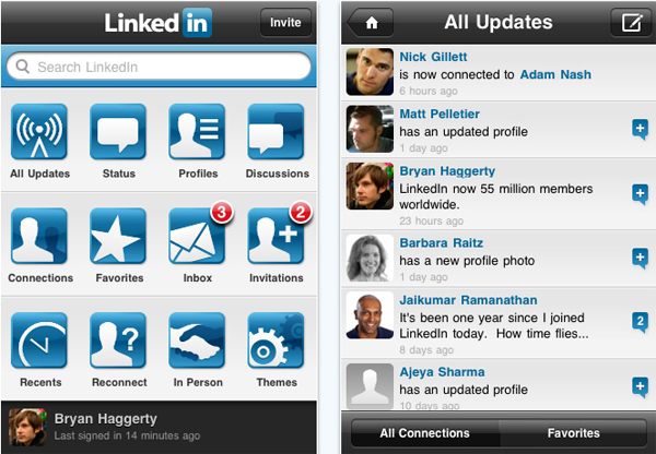 iPhone LinkedIn 3.2, entra en la red social profesional desde tu iPhone