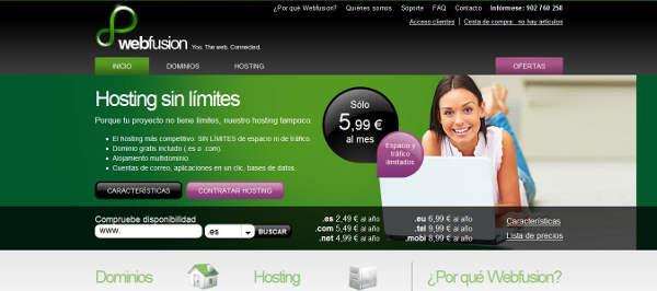Webfusion, llega a España la empresa de dominios y alojamiento de páginas web