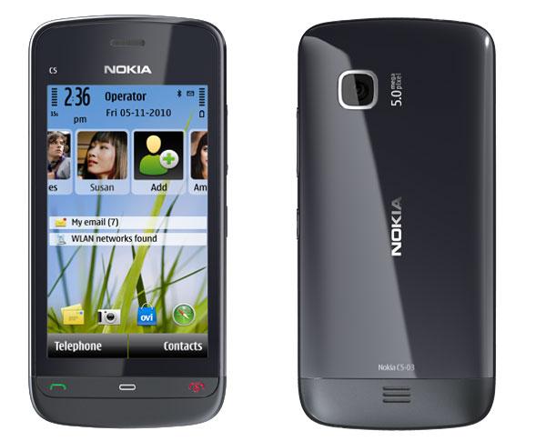 Nokia C5-03, móvil asequible de Nokia con acceso rápido al correo y a las redes sociales