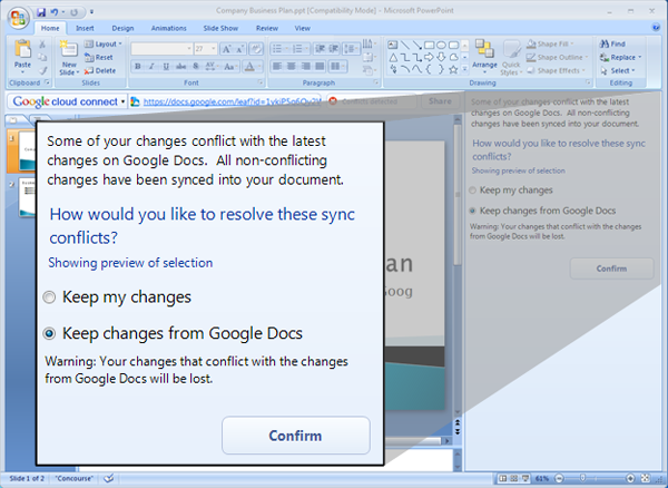 Google Docs y Microsoft Office, una herramienta de Google une a los dos grandes competidores