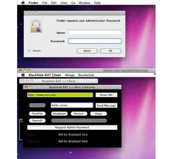 BlackHole RAT, troyano para Apple capaz de controlar el ordenador de forma remota