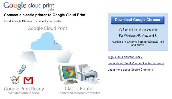 Google Cloud Print beta, imprime documentos a través de Internet