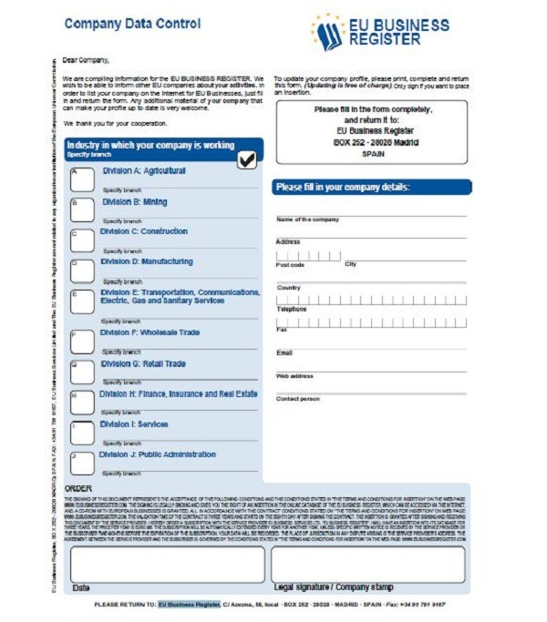 EU Business Register, consejos para evitar el pago de las cartas de EU Business Register