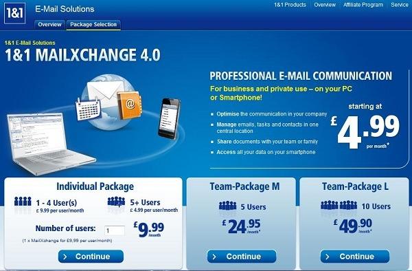 1&1 MailXchange, solución de correo corporativo y colaboración para Pymes y autónomos