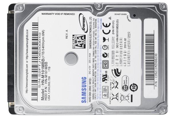 Samsung SpinPoint M8, disco duro de 1 TB de Samsung para portátiles