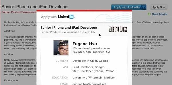 LinkedIn, la empresa lanza un botón para envíar el perfil corporativo a las ofertas de empleo