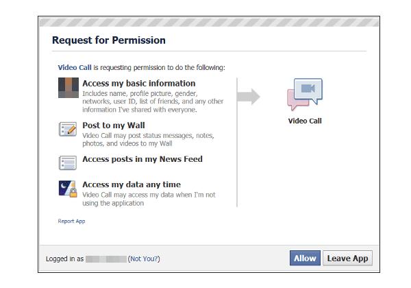 Aplicaciones falsas, se publica en Facebook una aplicación de videollamada falsa que envía spam