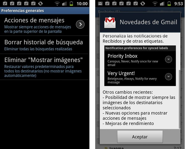 Android, cómo personalizar los sonidos de Gmail en Android