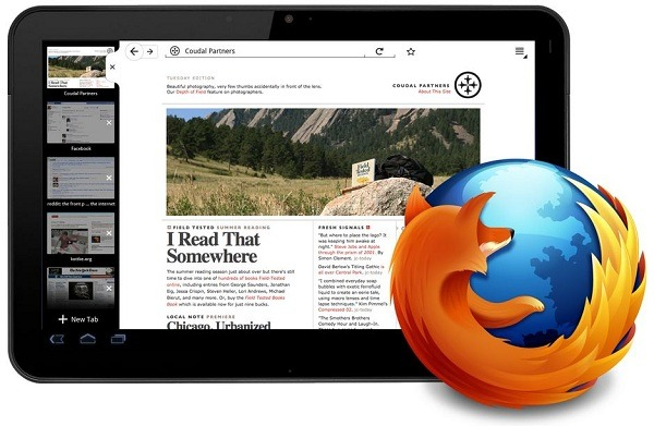 Novedades de Firefox para tablets