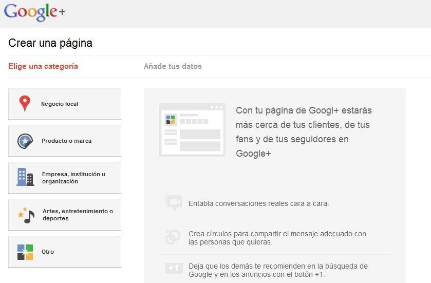 Google+ se abre a las empresas