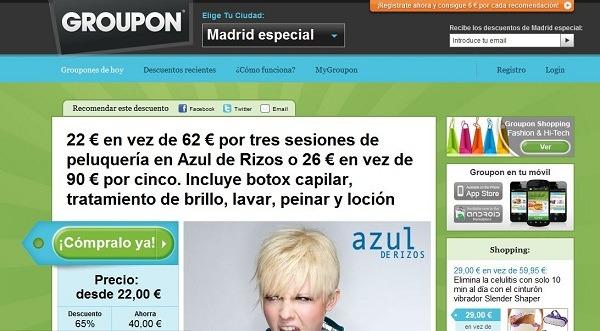 Web de Groupon