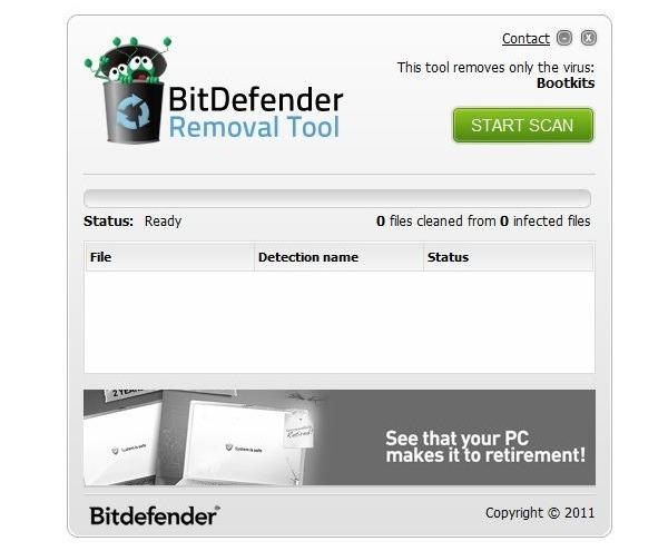 Herramienta de Bitdefender para quitar rootkits del equipo