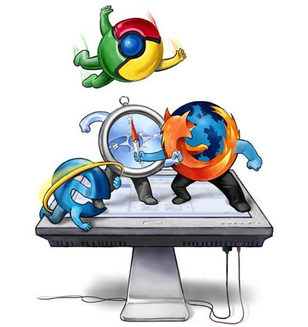 Chrome supera a Firefox