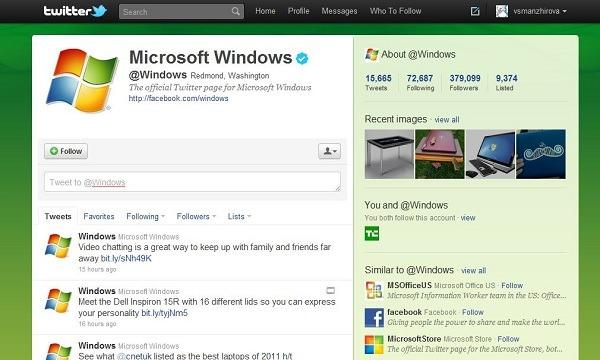 Twitter crea nuevas páginas para empresas