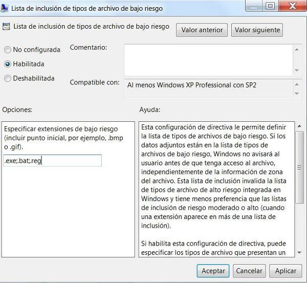 Cómo deshabilitar la ventana de confirmación en Windows 7