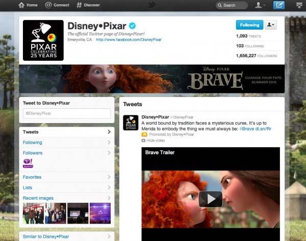 Perfil de empresa de Twitter