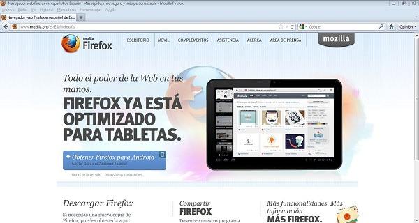 Mozilla corrige un fallo crítico en Firefox 10