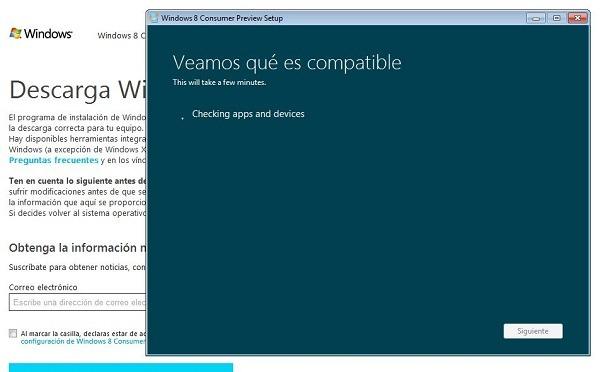 Descarga gratis la beta de Windows 8