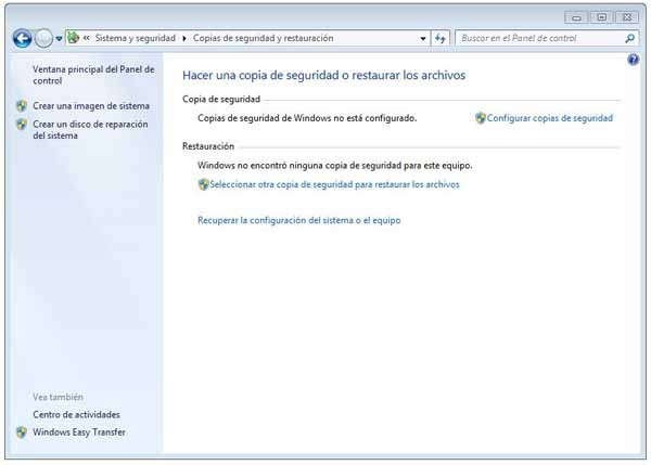 Cómo crear un disco de reparación en Windows 7