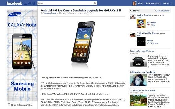 La actualización del Samsung Galaxy S II a Android 4 comienza