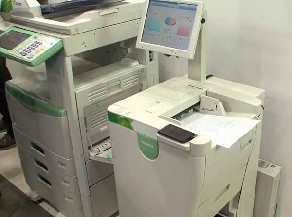 Toshiba lanzará una impresora con tinta borrable