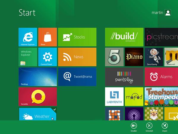 Windows 8 beta
