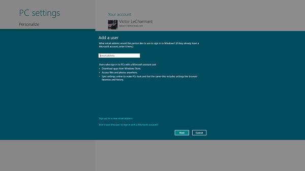 Varias cuentas de usuario en Windows 8
