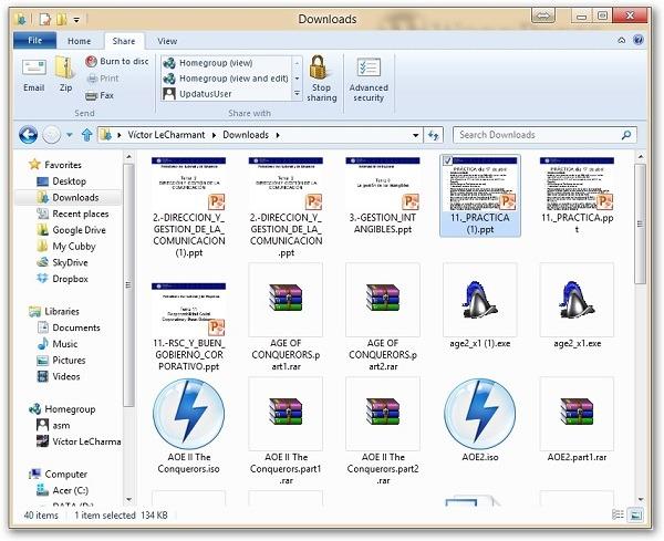 Cómo funciona el explorador de Windows 8