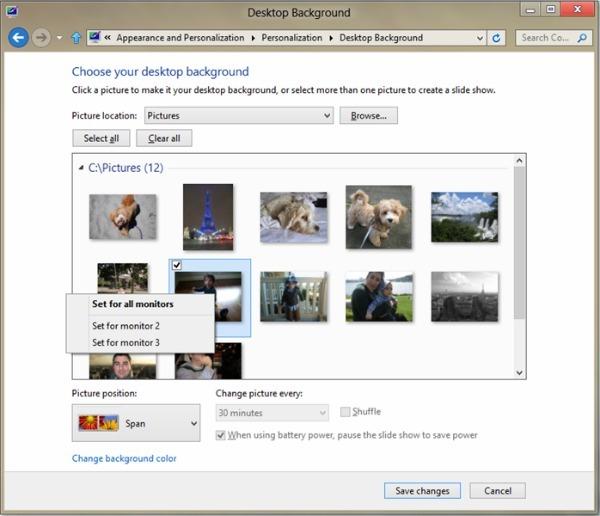 Windows 8 mejora el uso de varios monitores a la vez