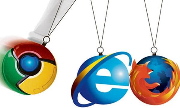 Internet Explorer y Google Chrome