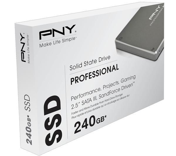 PNY, tarjetas SSD profesionales de PNY de 120 GB y 240 GB