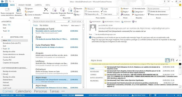 Outlook, cómo sincronizar el correo de Gmail con Outlook 2013