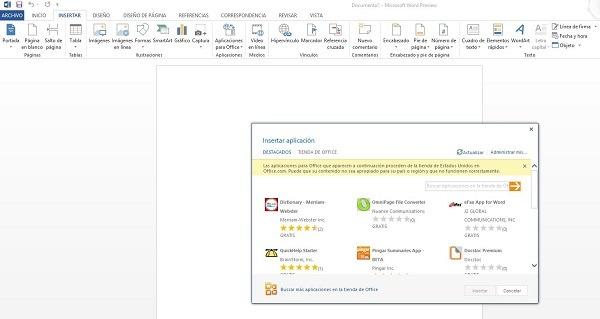 Microsoft abre la tienda de aplicaciones de Office 2013