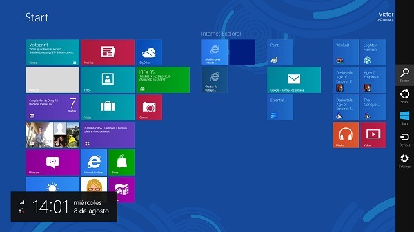 Usuarios de Windows 8