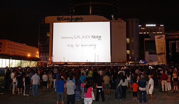 Samsung presenta el Galaxy Note 10.1 con un concierto gratuito de Carlos Jean