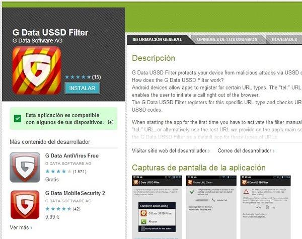 G Data USSD Filter, protege tu smartphone con este filtro gratuito