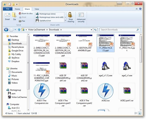 Explorador de Windows 8