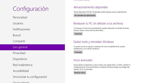 Cómo restaurar Windows 8 en caso de mal funcionamiento
