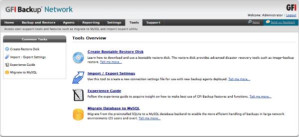 GFI Backup 2011, herramienta online para Pymes que realiza copias de seguridad y restaura datos