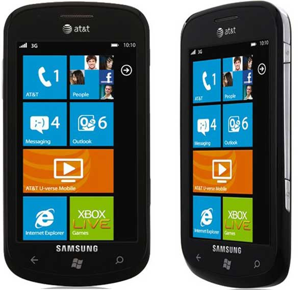 Samsung Focus i917, móvil de Samsung con Windows Phone 7 y pantalla táctil super AMOLED